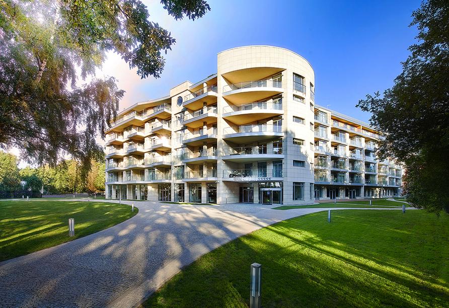 Diune Resort Kolberg, Außenansicht Front