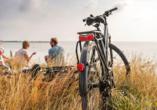 Ostsee Resort Damp, Fahrrad am Strand