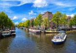 Hollands Tulpenblüte erleben, Grachtenfahrt