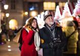 Erleben Sie auf Ihrer Reise wunderschöne Weihnachtsmärkte.