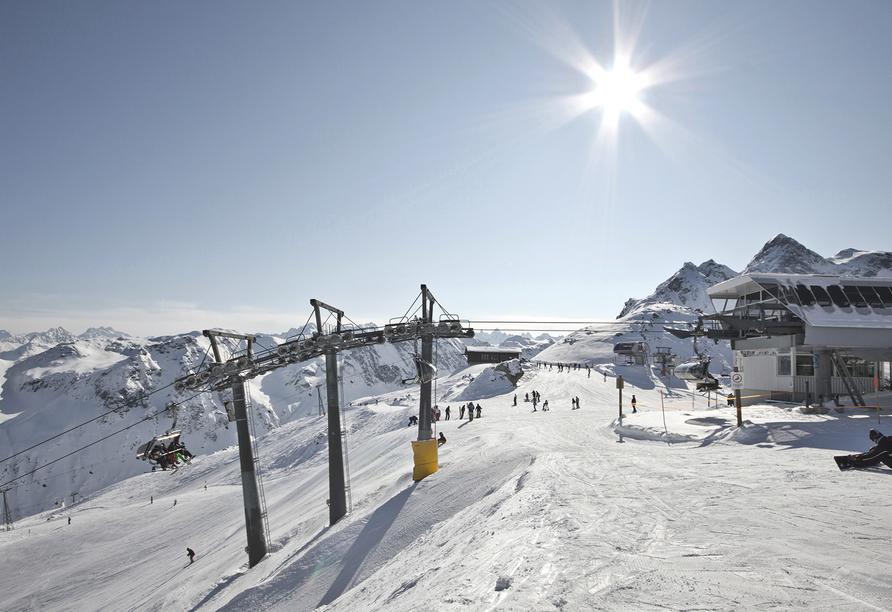 First Mountain Hotel Montafon in Vorarlberg Österreich, Skipiste