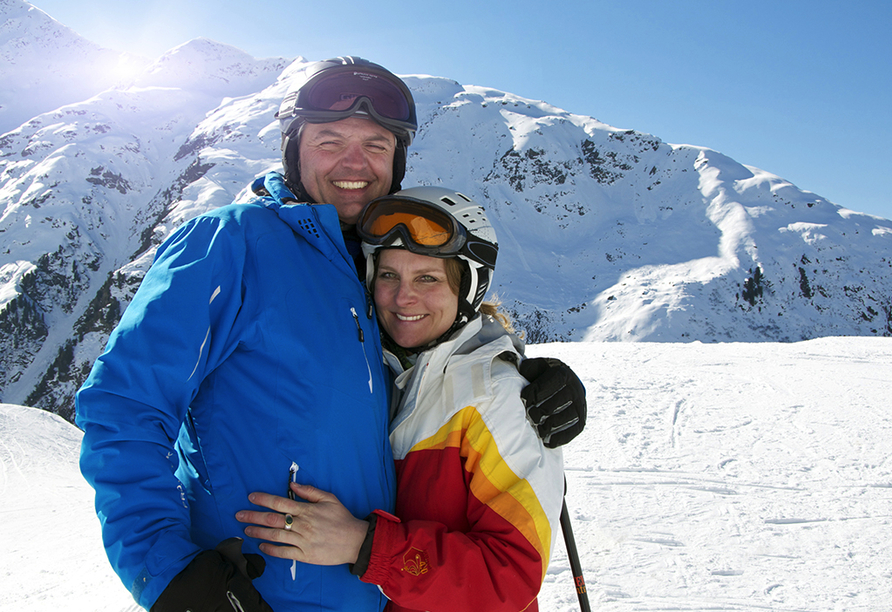 First Mountain Hotel Montafon in Vorarlberg Österreich, Skifahrer