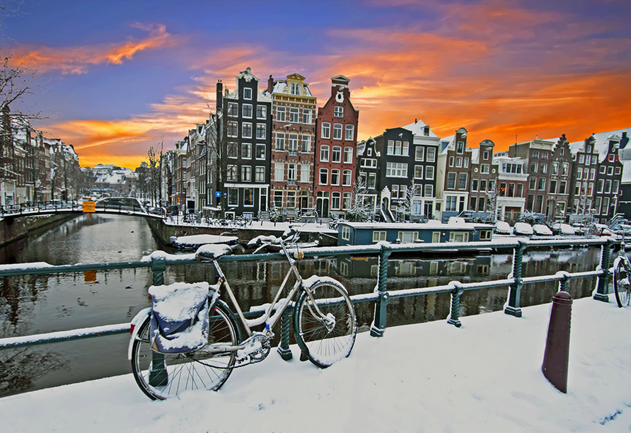 MS Asara, Amsterdam im Winter