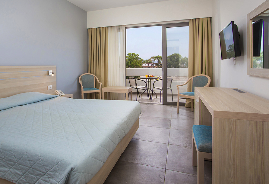 Hotel Niriides in Kolymbia, Rhodos Griechenland, Zimmerbeispiel