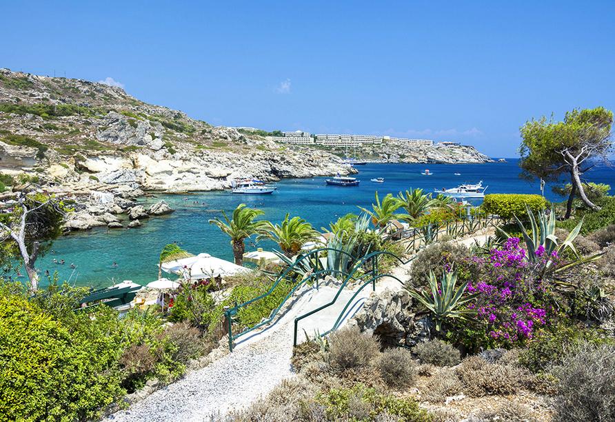 Hotel Niriides in Kolymbia, Rhodos Griechenland, Bucht von Kalithea