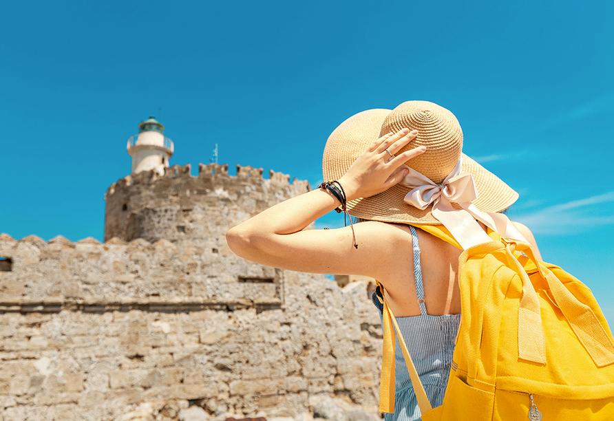 Hotel Niriides in Kolymbia, Rhodos Griechenland, Sightseeing