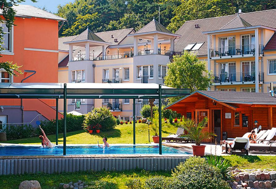 Ostseehotel Villen im Park in Bansin, Außenansicht