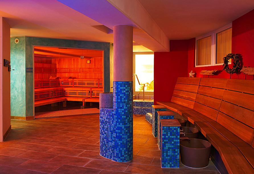 Ostseehotel Villen im Park in Bansin, Sauna