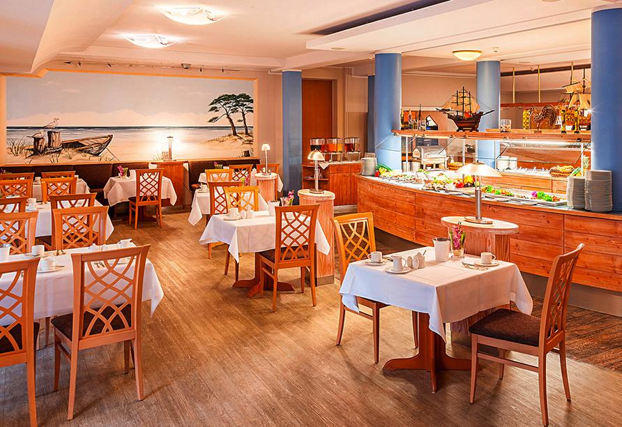Ostseehotel Villen im Park in Bansin, Frühstücksbuffet
