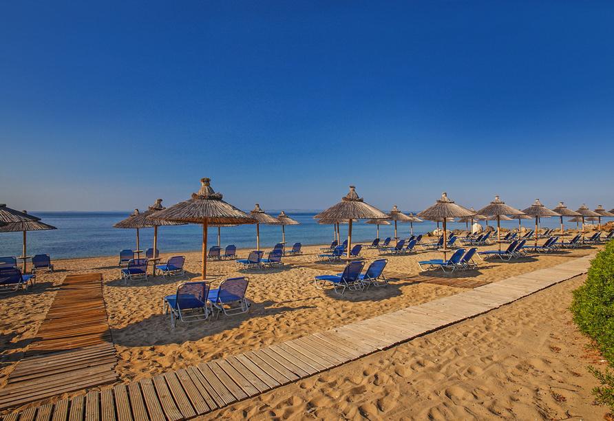 Hotel Blue Dolphin, Chalkidiki, Strand
