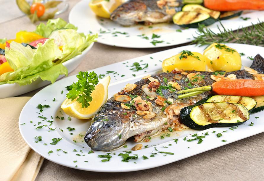 Apartmentanlage Juric in Trogir, Fisch