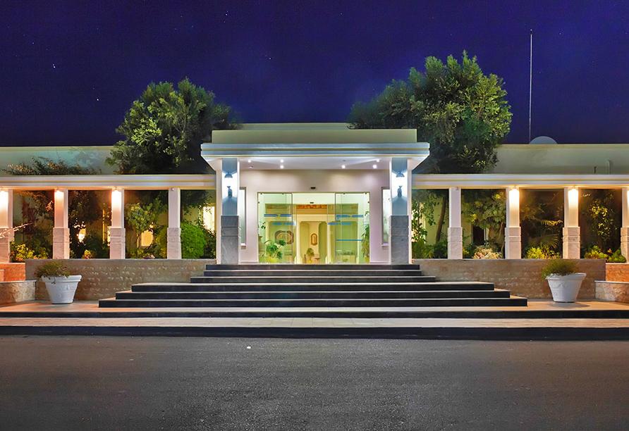 Hotel Gaia Royal in Mastichari, Eingang