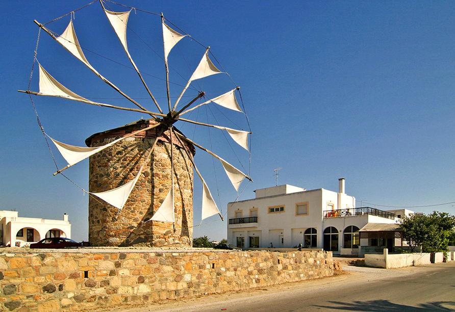 Hotel Gaia Royal in Mastichari, Windmühle in Antimáchia