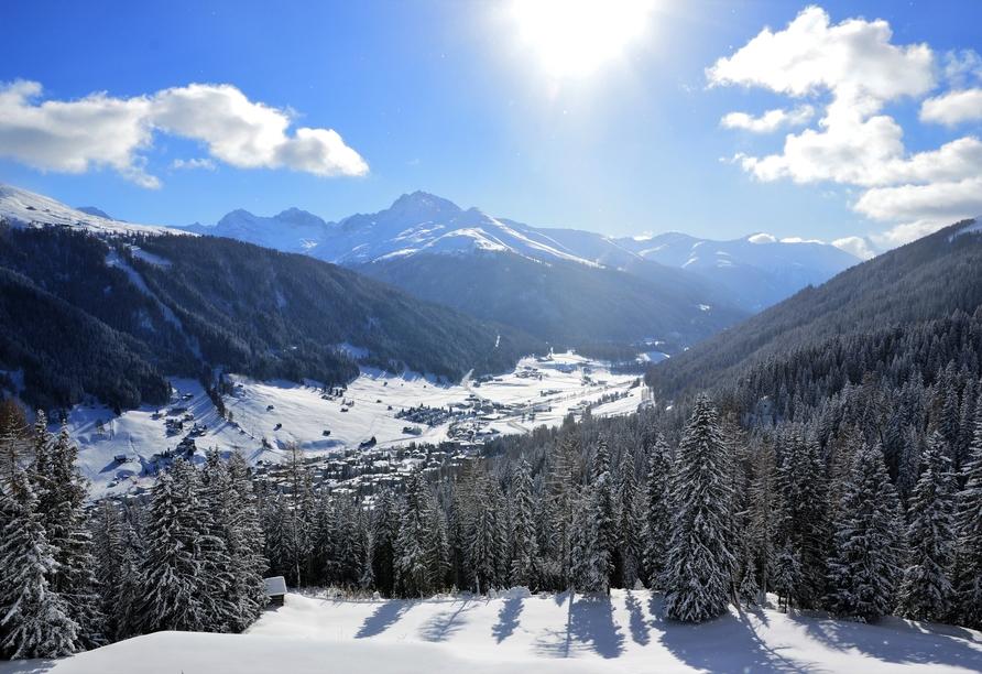 Hotel Bellevue Wiesen, Davos Winter
