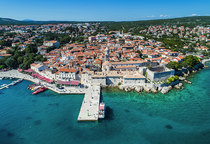 Hotel Hedera in Rabac in Kroatien, Stadt Krk