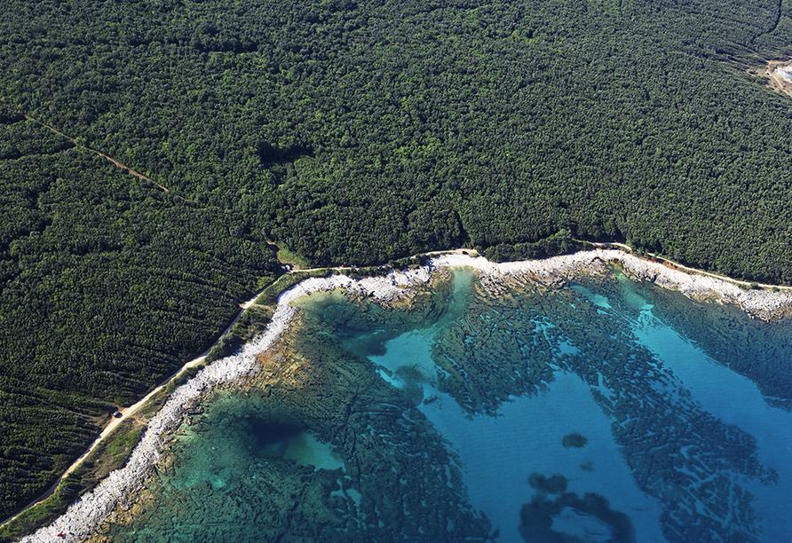 Hotel Hedera in Rabac in Kroatien, Istrien Küste