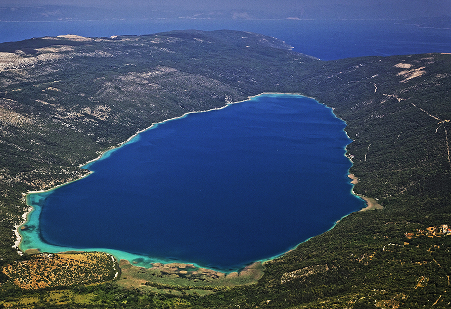 Hotel Hedera in Rabac in Kroatien, Süßwassersee Vrana Insel Cres
