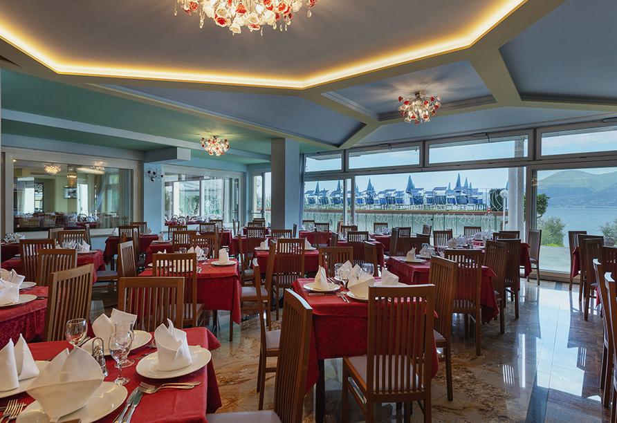Hotel Internazionale in Torri del Benaco am Gardasee, Restaurant