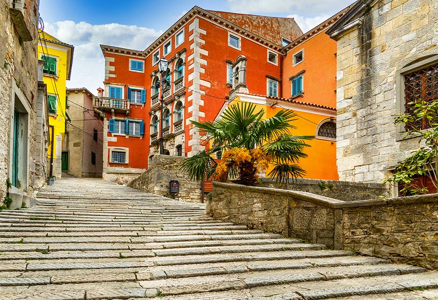 Hotel Mimosa in Rabac, Altstadt Labin