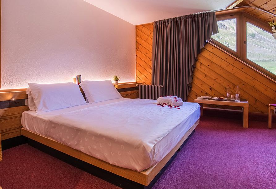 Blu Hotels Senales in Kurzras Schnastal Südtirol, Zimmerbeispiel