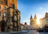 MS Florentina, Astronomische Uhr Prag