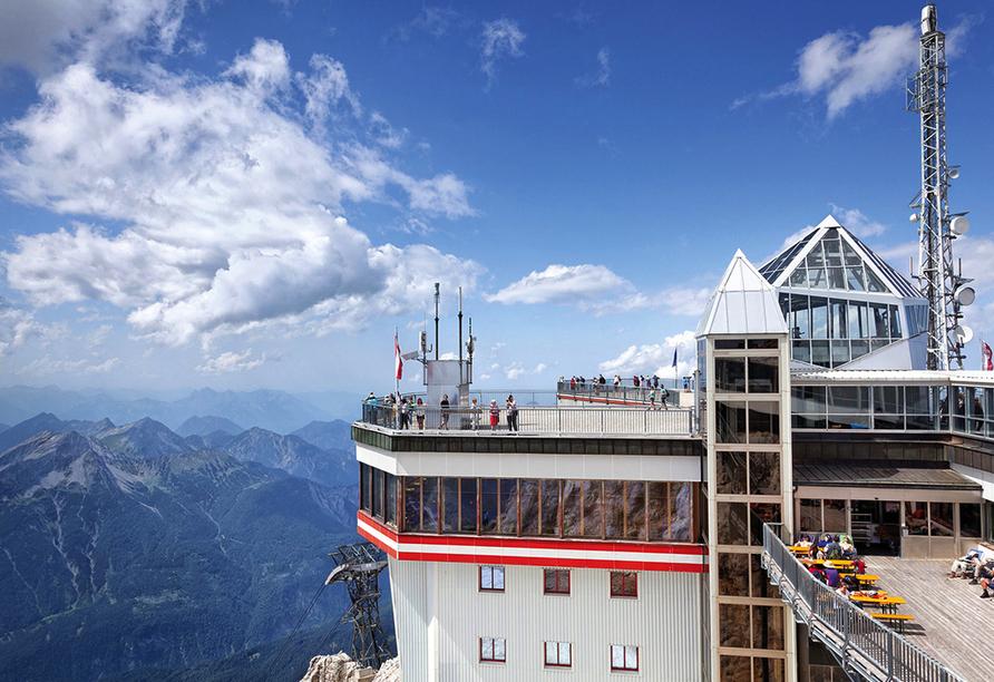 Wanderreise Starnberger See und Garmisch, Aussichtsplattform Zugspitze