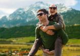 Wanderreise Starnberger See und Garmisch, Paar in den Bergen