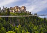Best Western Panoramahotel Talhof in Wängle bei Reutte in Tirol, Burgruine Ehrenberg