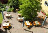 WAGNERS Hotel Schönblick in Fichtelberg, Terrasse