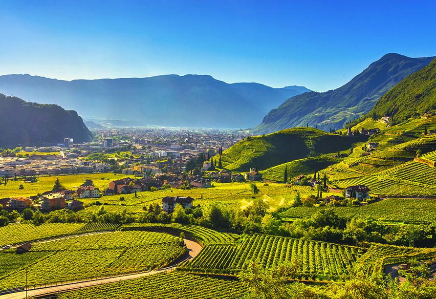 Naturhotel Wieserhof in Ritten in Südtirol, Landschaft Bozen