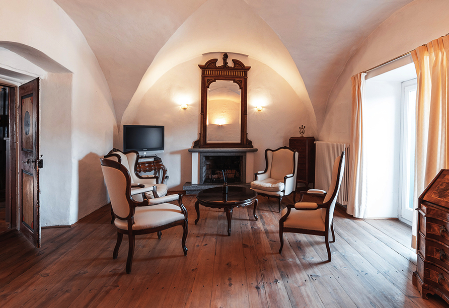 Naturhotel Wieserhof in Ritten in Südtirol, Aufenthaltsraum