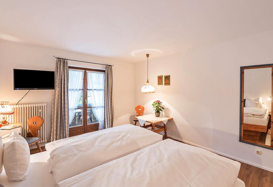 Hotel Bayerischer Hof Inzell im Chiemgau, Beispiel eines Doppelzimmers