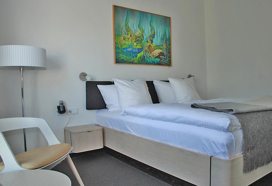 Hotel Njord, Beispiel Zimmer