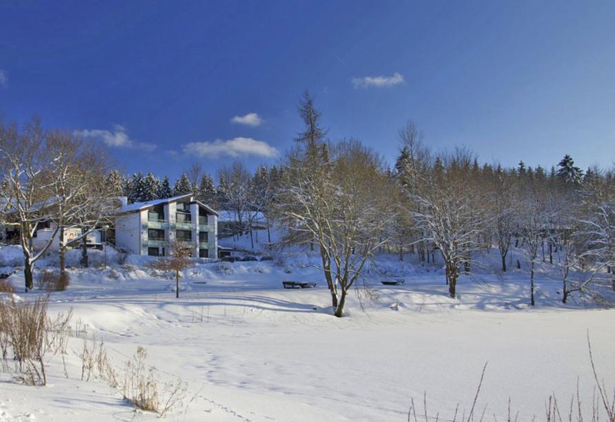 Hotel Njord, Außenansicht Winter