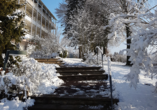 Vitalhotel König am Park in Bad Mergentheim im Tal der Tauber, Parkweg Winter