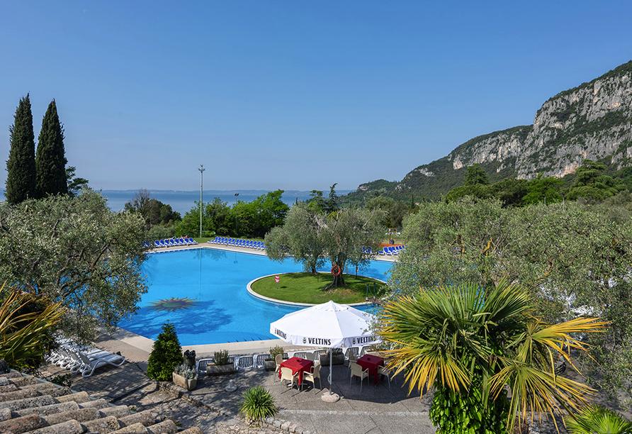 Residence Parco del Garda in Garda Italien, Außenanlage