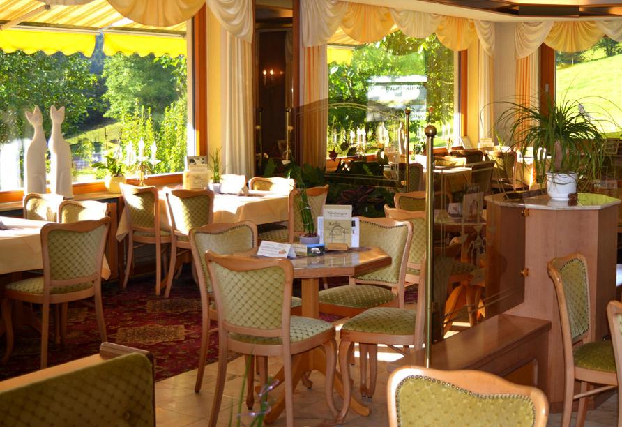 Hotel Gassbachtal in Grasellenbach, Odenwald, NibelungenCafé