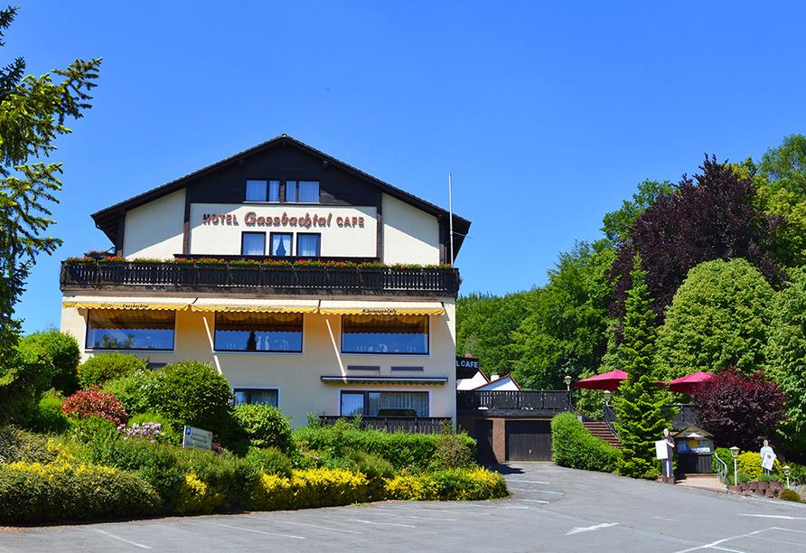 Hotel Gassbachtal in Grasellenbach, Odenwald, Außenansicht
