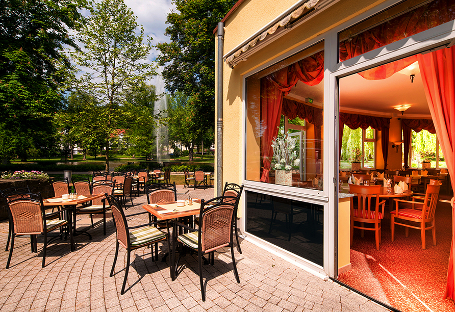 Hotel Thermalis in Bad Hersfeld, Sonnenterrasse