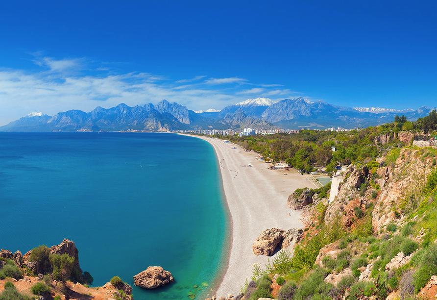 Hotel Titan Garden in Alanya, Strand von Antalya
