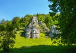 Altmühltal Panoramaweg, Felsen im Altmühltal