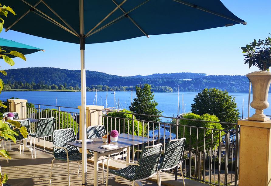 Seehotel Villa Linde in Bodman, Bodensee, Terrasse