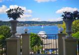Seehotel Villa Linde in Bodman, Bodensee, Ausblick