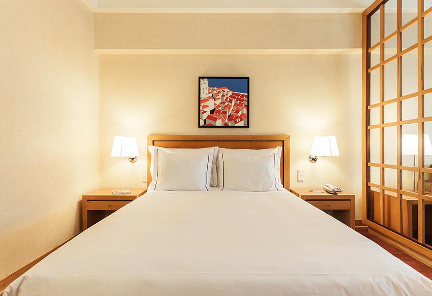 Beispiel eines Doppelzimmers im Hotel Roma in Lissabon