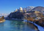 Hotel Gradlwirt in Niederndorf, Tirol, Österreich, Kufstein im Winter