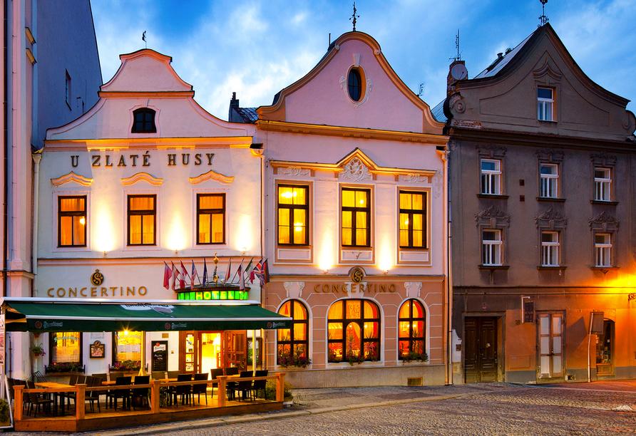 Hotel Concertino – Zlatá Husa, Südböhmen, Tschechien, Außenansicht