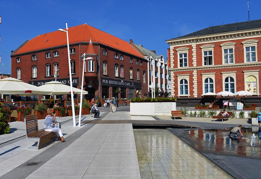Villa Jupiter in Swinemünde an der polnischen Ostsee, Stadtansicht