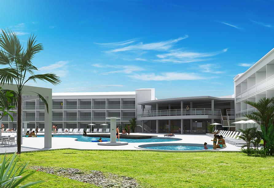 Hotel Gran Sagitario in Ciutadella de Menorca, Poollandschaft