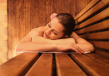 Hotel Bayern Vital, Frau in Sauna
