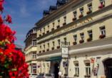 Traditionshotel Wilder Mann, Außenansicht vom Hotel